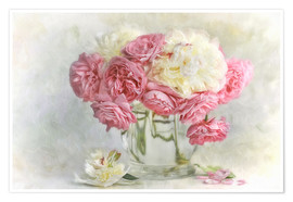 Premium poster  roses and peonies - Lizzy Pe