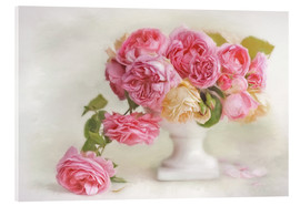 Acrylic glass  pink roses - Lizzy Pe