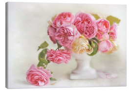 Canvas  pink roses - Lizzy Pe