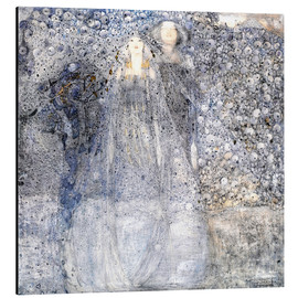 Aluminium print  Silver Apples - Margaret MacDonald Mackintosh