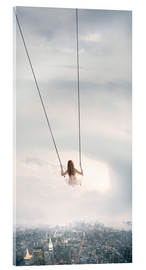 Acrylic print  swinging over the city - Jos Temprano