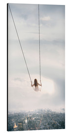 Aluminium print  swinging over the city - Jos Temprano
