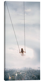 Canvas print  swinging over the city - Jos Temprano
