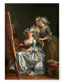 Premium poster  Adelaide Labille-Guiard with two schoolgirls - Adelaide Labille-Guiard