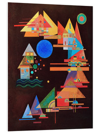 Foam board print  Peaks in the bow - Wassily Kandinsky
