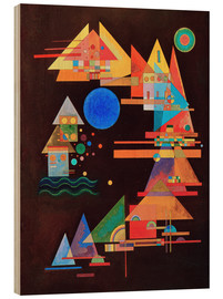Wood print  Peaks in the bow - Wassily Kandinsky