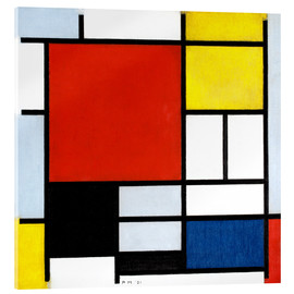 Acrylic print  Composition with red, yellow, blue and black - Piet Mondriaan