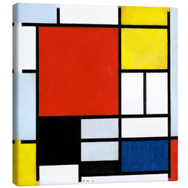 Canvas print  Composition with red, yellow, blue and black - Piet Mondriaan