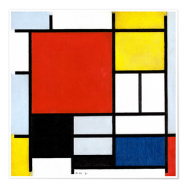 Premium poster  Composition with red, yellow, blue and black - Piet Mondriaan