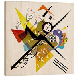 Wood print  On White II - Wassily Kandinsky