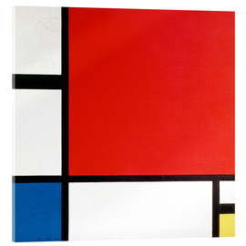 Acrylic print  Composition with Red, Yellow and Blue - Piet Mondrian