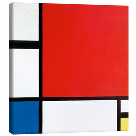 Canvas  Composition with Red, Yellow and Blue - Piet Mondrian