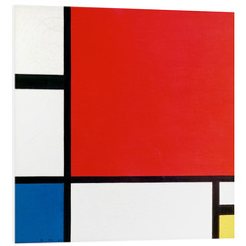 Foam board print  Composition with Red, Yellow and Blue - Piet Mondrian