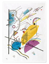 Premium poster  Continuous line - Wassily Kandinsky