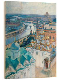 Wood print  View of Moscow - Nikolaj Grizenko