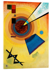 Acrylic print  Green and red - Wassily Kandinsky