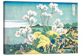 Canvas print  The Fuji of Gotenyama in Shinagawa - Katsushika Hokusai