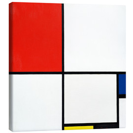 Canvas print  Composition with red, blue and yellow - Piet Mondriaan