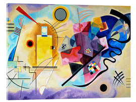 Acrylic print  Yellow, red and blue - Wassily Kandinsky