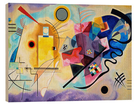 Wood print  Yellow, red and blue - Wassily Kandinsky