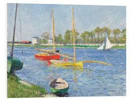 Foam board print  The Seine at Argenteuil - Gustave Caillebotte