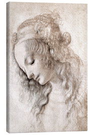 Canvas print  Study of Mary Magdalene - Leonardo da Vinci