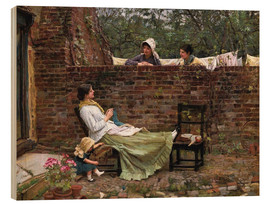 Wood print  Chat - John William Waterhouse