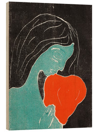 Wood print  The heart - Edvard Munch