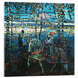Acrylic glass  Couple on a horse - Wassily Kandinsky