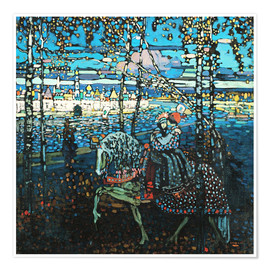 Premium poster  Couple on a horse - Wassily Kandinsky