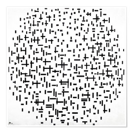 Premium poster  Composition with lines - Piet Mondriaan