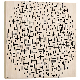 Wood print  Composition with lines - Piet Mondriaan