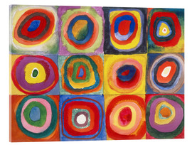Acrylic print  Colour study - squares and concentric rings - Wassily Kandinsky