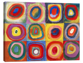 Canvas print  Colour study - squares and concentric rings - Wassily Kandinsky