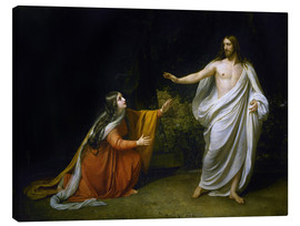 Canvas print  Christ's Appearance to Mary Magdalene after the Resurrection - Aleksandr Andreevich Ivanov
