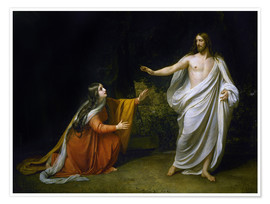Premium poster  Christ's Appearance to Mary Magdalene after the Resurrection - Aleksandr Andreevich Ivanov