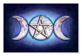 Premium poster Moon Pentagram - Triple Moon