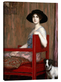 Canvas print  Mary von Stuck in a red chair - Franz von Stuck