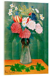 Acrylic print  Bouquet on the branch of ivy - Henri Rousseau