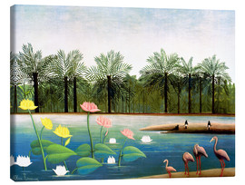 Canvas print  The flamingos - Henri Rousseau