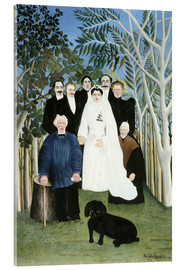 Acrylic print  A wedding in the countryside - Henri Rousseau