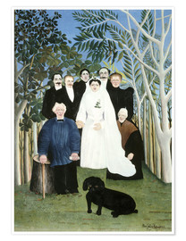 Premium poster  A wedding in the countryside - Henri Rousseau