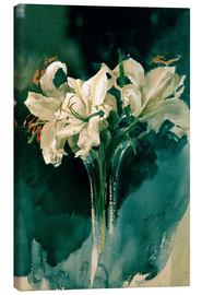 Canvas  White Lilies - Anders Leonard Zorn