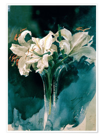 Premium poster  White Lilies - Anders Leonard Zorn