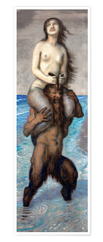 Premium poster  Faun and Mermaid - Franz von Stuck