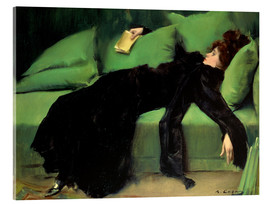 Acrylic print  After the ball - Ramon Casas i Carbo
