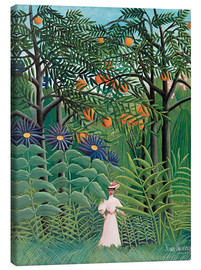 Canvas print  Woman in an exotic forest - Henri Rousseau