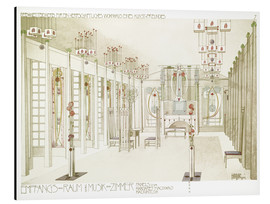 Aluminium print  Salon and music room - Charles Rennie Mackintosh