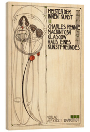 Wood print  House of an art lover: Cover - Charles Rennie Mackintosh