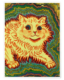 Premium poster  Electric Cat - Louis Wain